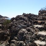 Stairs out of rocky beach (103087)