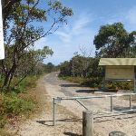 Sign and gate at the end of Beachcomber Rd (113446)