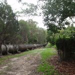 Pipeline at top of Founders way track (122116)