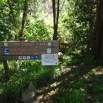 Sign at top of Little Digger track (136279)