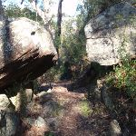 Large boulders along much of this section of track (178032)