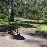 Fire place and toilet at Darug campsite (189672)