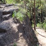 Track Switchback at rocky outcrop (190014)