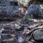 Steps through cleft in rock (218777)