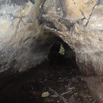 Looking along tunnel at the back of the cave (233553)