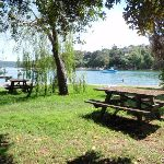 Picnic tables at Hermit Point (254222)