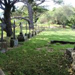 View though fence to cemetery (254537)