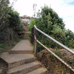 Steps leading up the The Gap Bluff (256610)