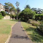 Path leading though the Cremorne Reserve with the house on the left (258989)
