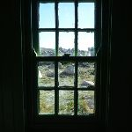 Looking out the window at Seamans Hut (265862)