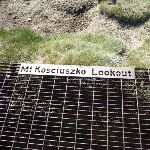 Signpost on path for Mt Kosciuszko Lookout (271703)