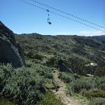 Merrits Nature Track passing under the chair lift (271961)