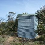 The loo shelter at Round Mountain Hut (289819)
