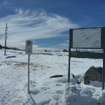 Cross-country ski trail sign (301282)