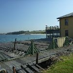 Boat shed building near beach (308402)