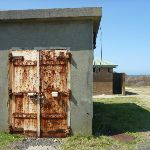 Buildings and locked toilet near helicopter shed (310394)