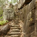 Stone steps leading up the side of the cliff (327914)