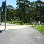 Great North Walk sign to Newcastle on Burwood Road (338311)