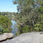View of the Lane Cove River from the rock platform at the end of Meyers avenue track  (344278)