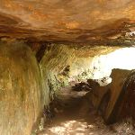 Passing through a tunnel formed by the sandstone (347761)