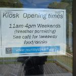 Signage for the kiosk at Murray's Beach on Lake Macquarie (389300)