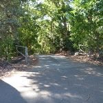 Open gate at Lookout Road Car Park in Blackbutt Reserve (399937)