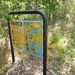 Graffiti on sign in Green Point Reserve  (403039)