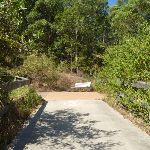 A metal seat on the Zig Zag trail in Green Point Reserve (403237)