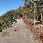 The fenced-off cliffs near Flat Rock Lookout (59516)